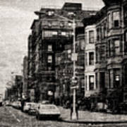 City Streets In Grunge Poster