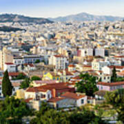 City View Of Old Buildings In Athens, Greece Poster