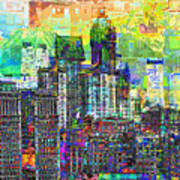 Cityscape Art City Optimist Poster