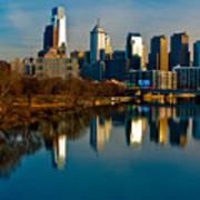 Cityscape Of Philadelphia Pa Poster by Louis Dallara