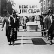 Civil Rights Demonstration In A Naacp Poster by Everett