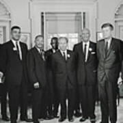 Civil Rights Leaders And President Kennedy 1963 Poster