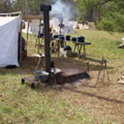 Civil War Camp Stove And Mess Poster