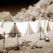 Civil War Encampment - Infrared Poster