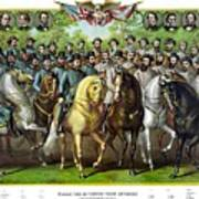 Civil War Generals And Statesman With Names Poster