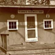 Clara's Sandwich Shop Poster