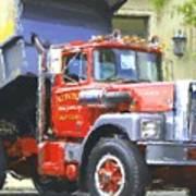 Classic Brockway Dump Truck Poster