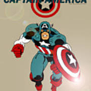 Classic Captain America Poster by Mista Perez Cartoon Art