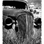 Classic Car Body In Grassy Field Poster