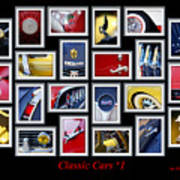 Classic Car Montage Art 1 Poster
