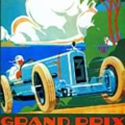 Classic Cars Motor Racing Grand Prix French Riviera 1929  Poster