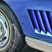 Classic Corvette Mako Shark 1965 Poster