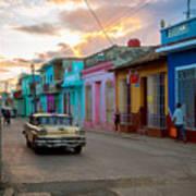 Classic Cuba Cars X1 Poster