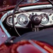 Classic Ford Convertible Interior Poster