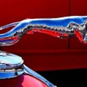 Classic Ford Greyhound Hood Ornament Poster