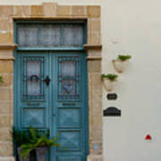 Classic House Entrance In Old Nicosia Poster