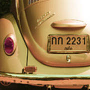 Classic Vw Beetle In Thailand Poster by Georgia Fowler