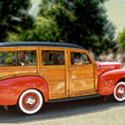 Classic Woody Station Wagon Poster