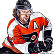 Claude Giroux Poster by Dave Olsen