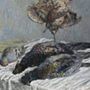 Claude Monet 1840 - 1926 Pheasant, Woodcock And Partridge Poster