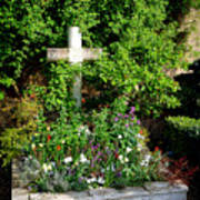 Claude Monet Grave In Giverny Poster