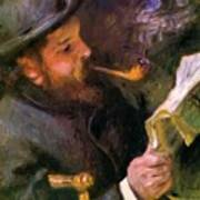 Claude Monet Reading 1872 Poster