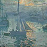 Claude Monet Sunrise Poster