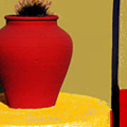 Clay Pot In Red Poster
