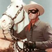 Claytn Moore The Lone Ranger Poster
