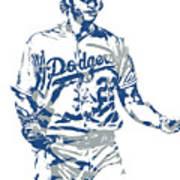 Clayton Kershaw Los Angeles Dodgers Pixel Art 10 Poster