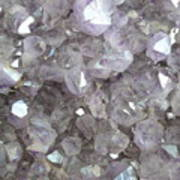 Clear Crystal Amethyst Poster