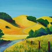 Clear Fall Day At Briones Poster