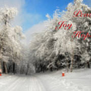 Clearing Skies Christmas Card Poster