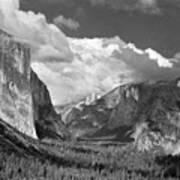 Clearing Skies Yosemite Valley Poster