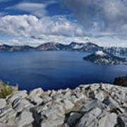 Clearing Storm At Crater Lake Poster