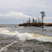 Clearing Storm Over Lake Superior Poster