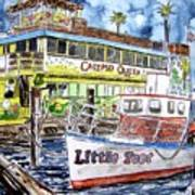 Clearwater Florida Boat Painting Poster