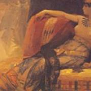 Cleopatra Preparatory Study For Cleopatra Testing Poisons On The Condemned Prisoners Poster