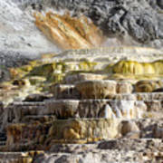 Cleopatra Terrace In Yellowstone National Park Poster