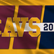 Cleveland Cavaliers Flag2 Poster