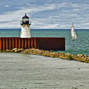 Cleveland Harbor Small Lighthouse Poster