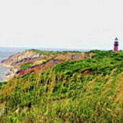 Cliff Off The Shores Of Martha Vineyard Poster