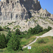 Cliff Shelf Trail In Badlands National Park South Dakota Poster