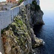 Cliff Top Walls Of Dubrovnik Poster