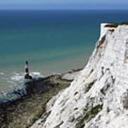 Cliffs At Beachy Head East Sussex Poster
