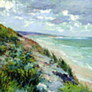 Cliffs By The Sea At Trouville  Poster