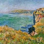 Cliffs Near Pourville Poster