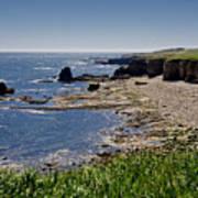 Cliffs Near Souter Lighthouse. Poster