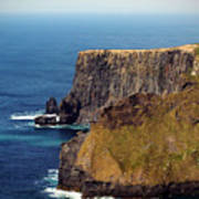 Cliffs Of Moher Ireland View Of Aill Na Searrach Poster