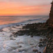 Cliffside Sunset Poster